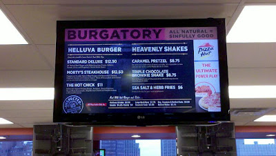 The limited menu at Burgatory at Consol Energy Center