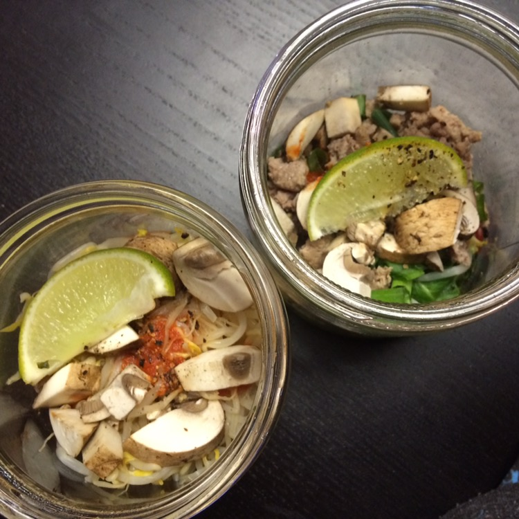 Build Your Own Pho, Quick Work Lunch in a Jar
